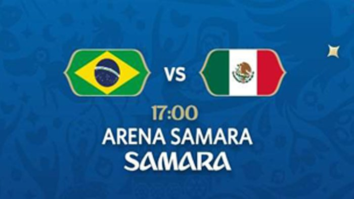 Brazil vs Meksiko. Malam Ini Pukul 21.00 WIB di Trans TV. Prediksi Berpihak ke Brazil?