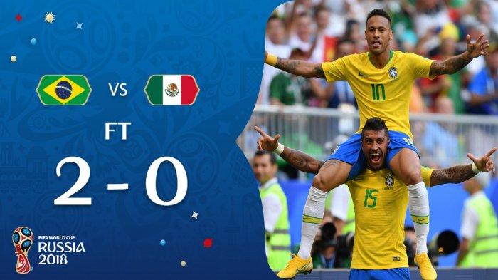 5 Fakta Menarik Laga Brazil vs Meksiko. Neymar 23 Kali Tendangan ke Gawang, 23 Kali Dilanggar