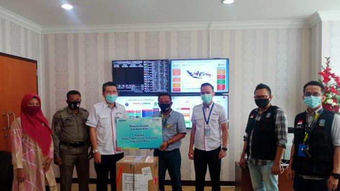 Dukung Gerakan 5 Juta Masker, BTN Sumbang 500 Paket Masker dan Hand Sanitizer ke Tim BLC Kepri-Batam
