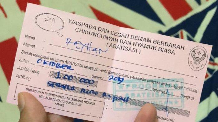 Petugas Puskesmas Bodong Bikin Resah Warga. Tawarkan Bubuk Abate Seharga Rp 100 Ribu