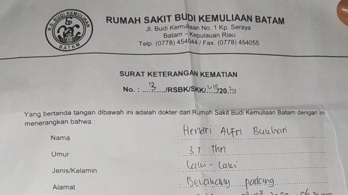Hendri Tewas Tak Lama Setelah Ditangkap Polisi, Keluarga Curiga Ini Fakta Kematian dari Surat RS