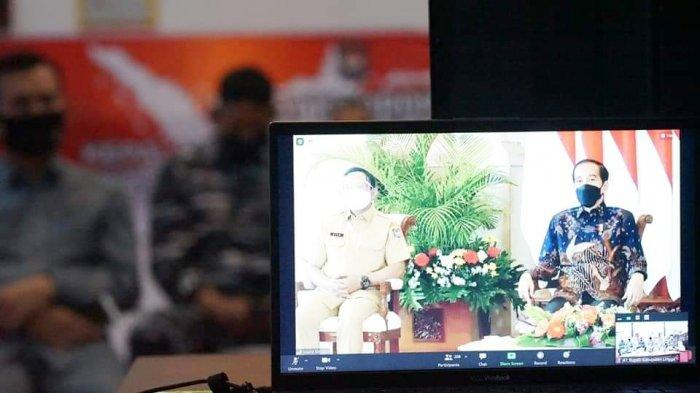 Bupati dan Wabup Lingga Ikut Rakor dengan Presiden, Minta Kepala Daerah Kerja Cepat