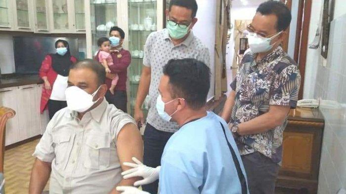 Bupati Karimun Akhirnya Disuntik Vaksin Dosis Satu Setelah 3 Bulan Sembuh Covid-19