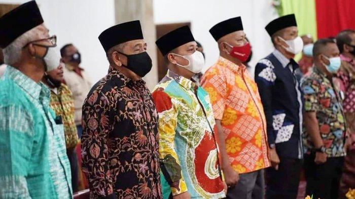 Bupati Lingga, Muhammad Nizar buka kegiatan Rakor Kesbangpoldagri di Aula Hotel Lingga Pesona, Kelurahan Daik, Kecamatan Lingga, Rabu (7/4/2021) malam.