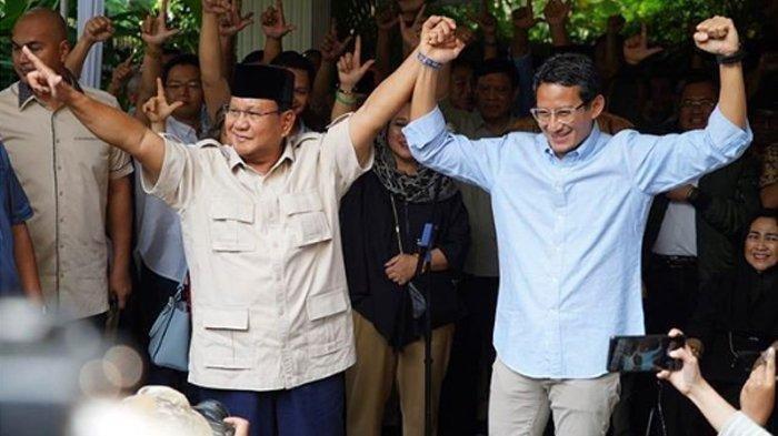 Tidak Tampak di Pemakaman Ani Yudhoyono, Kemana Prabowo Subianto dan Sandiaga Uno?