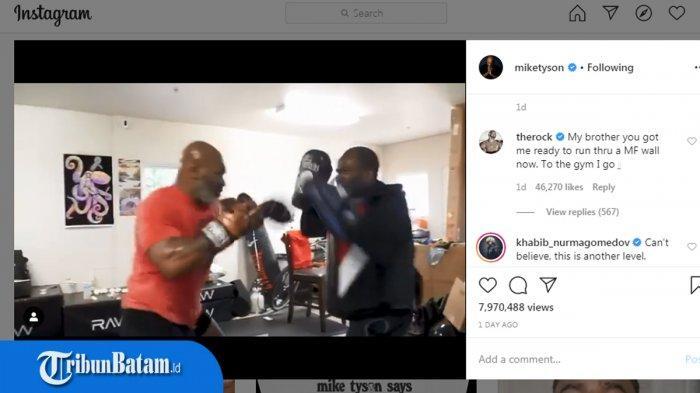 Sudah Berusia 53 Tahun, Khabib Nurmagomedov Takjub dengan Kecepatan Pukulan Mike Tyson