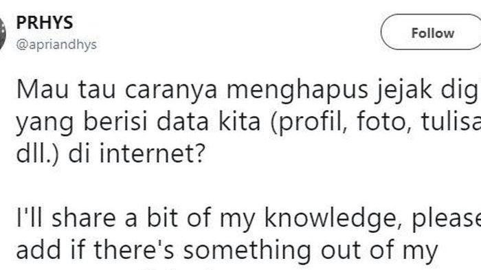 Ssstt, Begini Cara Hapus Jejak Digital tentang Diri Kita dari Internet
