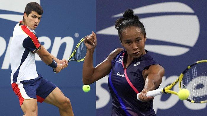 Hasil Tenis AS Terbuka 2021 - Carlos Alcaraz & Leylah Fernandez, 2 Remaja Bikin Kejutan US Open 2021