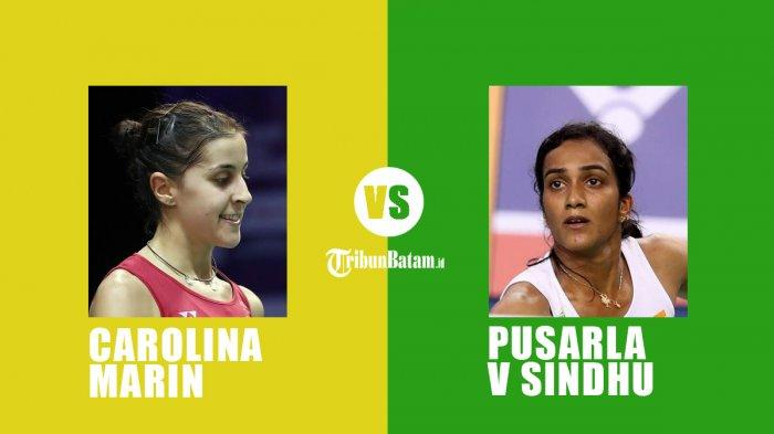Jadwal Final Swiss Open 2021 Live TVRI, Carolina Marin vs Pusarla V Sindhu, Axelsen vs Vitidsarn