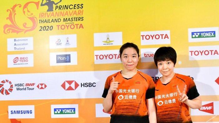 Hasil Final Thailand Masters 2020, Kalah di Set Pertama, Chen Qing Chen/Jia Yi Fan Juara Ganda Putri