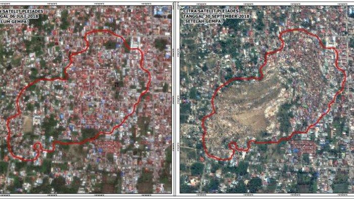 Luluh Lantak Kena Gempa dan Tsunami, Begini Penampakan Sulteng Sebelum dan Sesudah Bencana