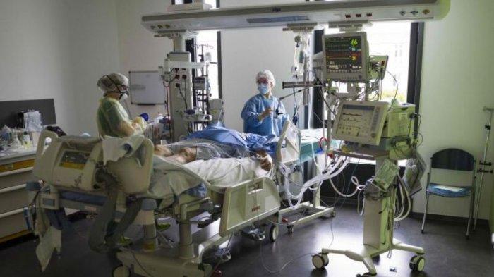 Jumlah pasien Covid-19 di unit perawatan intensif di Prancis tertinggi dalam hampir 5 bulan.