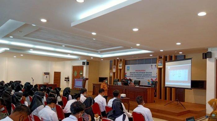 Ratusan CPNS ikuti pelatihan dasar (Latsar) di aula lantai III kantor Pemkab Anambas, Selasa (13/4/2021).