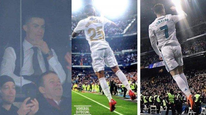 Tak Hanya Nonton, Cristiano Ronaldo Ternyata Masuk Raung Ganti Pemain Madrid, Diungkap Vinicius Jr