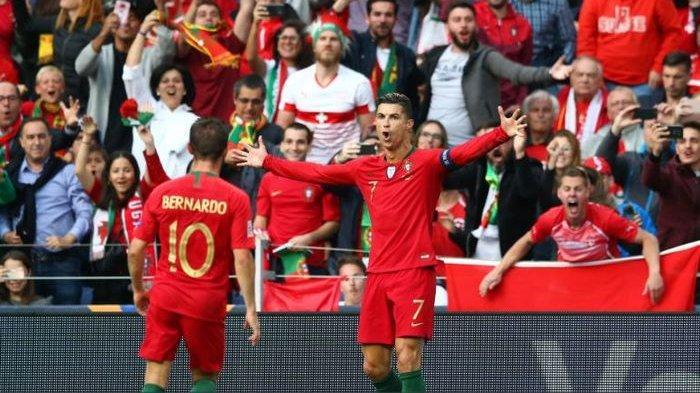 Hasil Kualifikasi Euro 2020 - Gol Cristiano Ronaldo Cetak Sejarah, Portugal Bungkam Luksemburg 3-0