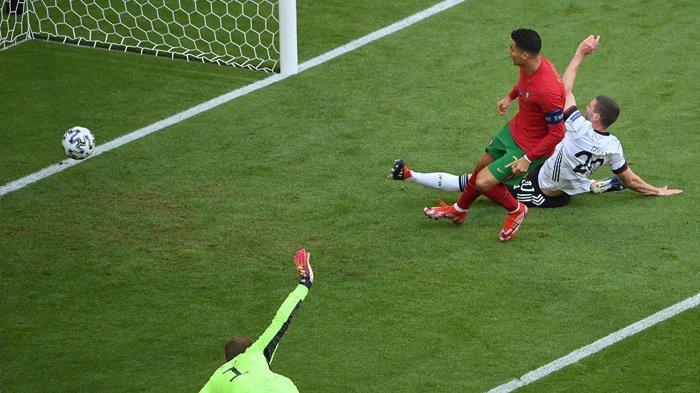Cristiano Ronaldo mencetak gol ketiganya di Piala Eropa 2020 namun Portugal kalah 2-4 laga melawan Jerman ini.