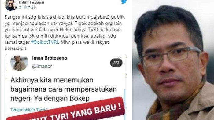 Sosok Iman Brotoseno Mendadak Viral Cuitan Dirut Tvri Di Twitter Jadi Sorotan Hingga Aksi Boikot Tribun Batam