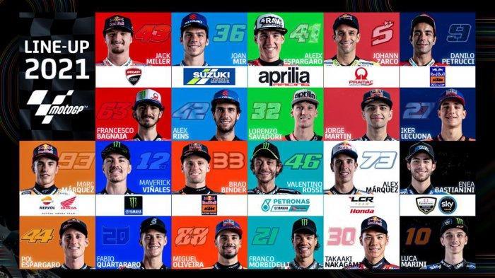 Daftar Pebalap MotoGP 2021, 22 Pebalap Bersaing, 3 Pebalap Rookie Termasuk Adik Valentino Rossi