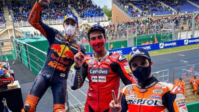 Hasil MotoGP Prancis, Danilo Petrucci Juara, Alex Marquez No 2, Valentino Rossi Terjatuh Lagi
