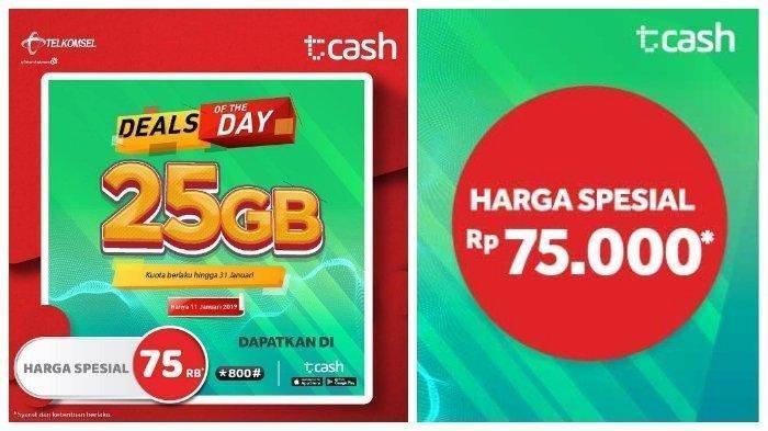 Berlaku Hanya Hari Ini, Kamu Bisa Beli Paket Data Telkomsel 25 GB Deals Of The Day Cuma Rp 75 Ribu