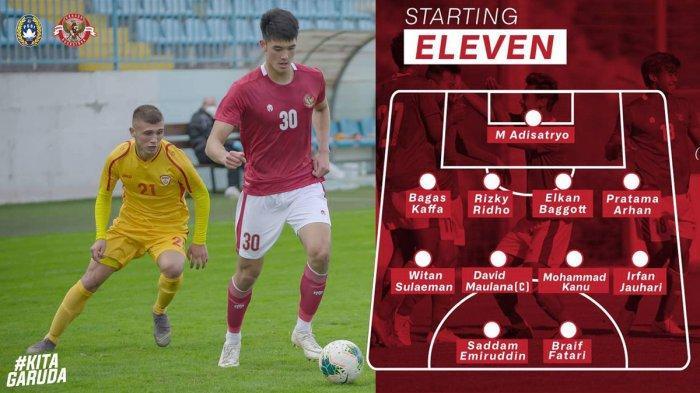 Debut Elkan Baggott bersama Timnas 19 Indonesia saat melawan Makedonia Utara