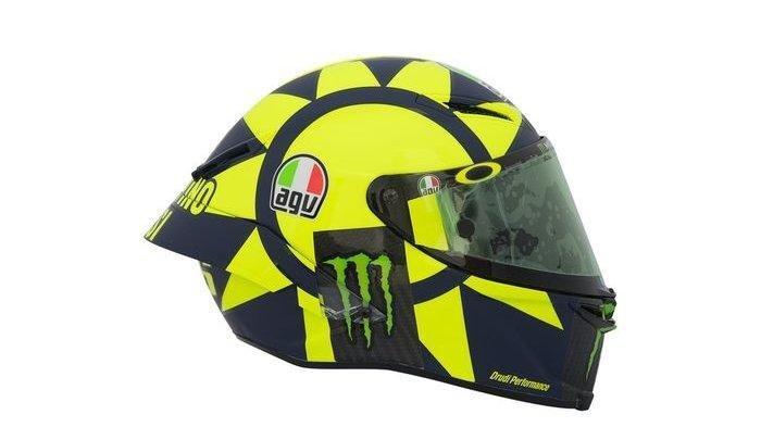 Ini Penampakan Helm The Doctor Di MotoGP 2019, Valentino Rossi : Penampilannya Lebih Agresif