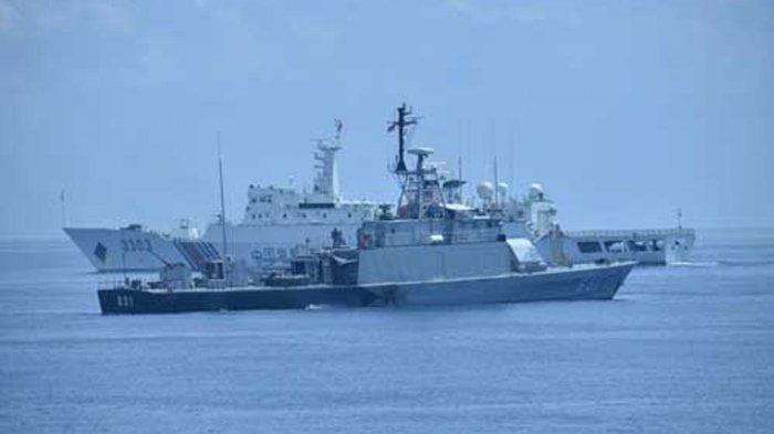Detik-detik Kapal Patroli China Gertak KRI Bung Tomo di Perairan Natuna, Minta Lepas Kapal Nelayan