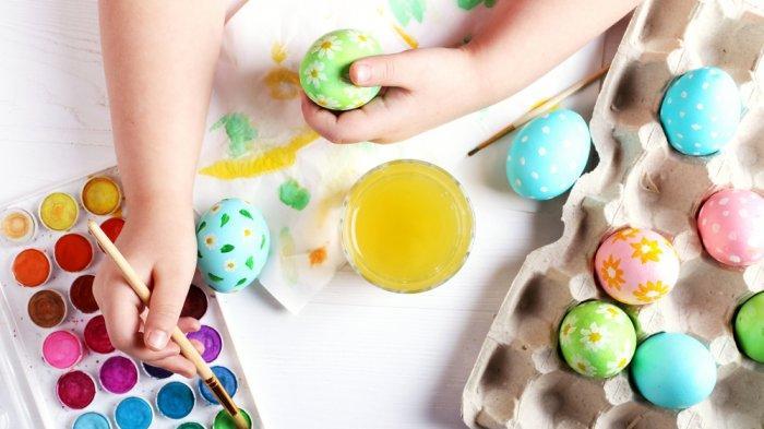 TELUR PASKAH - Apa Itu Telur Paskah? Ternyata Begini Sejarah dan Maknanya. FOTO: MEWARNAI TELUR
