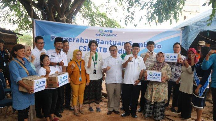 ATB Beri Bantuan Korban Longsor Pasar Jodoh Batam & Mendongeng untuk Trauma Healing Anak