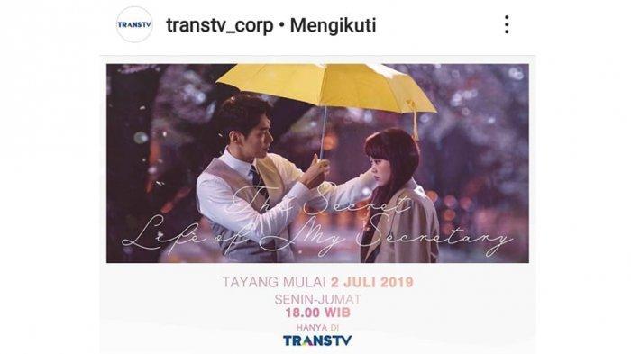 Sinopsis & Daftar Pemain Drama Korea The Secret Life of My Secretary Tayang 2 Juli 2019 di Trans TV