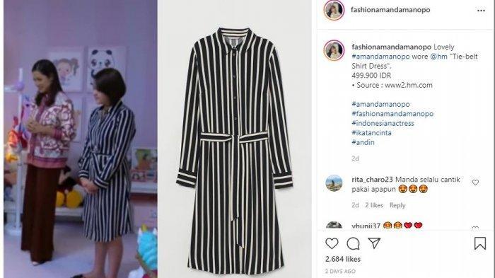 Pakai Dress Ratusan Ribu saat Syuting Ikatan Cinta, Amanda Manopo Ramai Pujian: Elegan