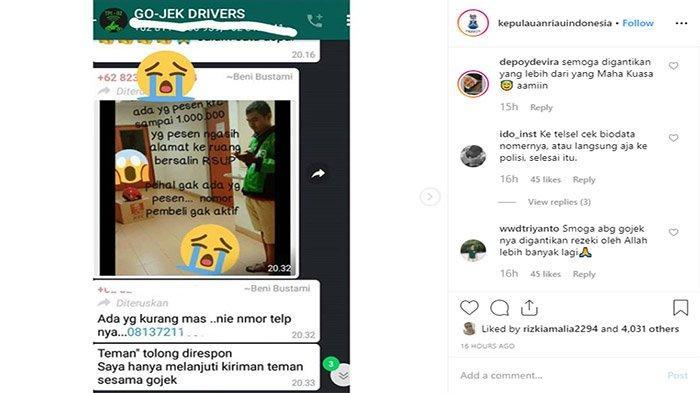 Kesaksian Kasir KFC dan Rekan Ojek, Saat Driver Ojek Online Kena Tipu Pemesan Hingga Rp1 Juta