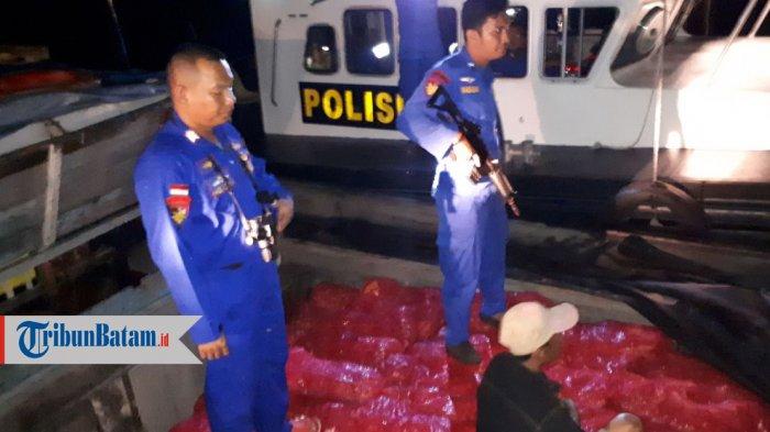 Ditpolair Polda Kepri Temukan Kapal Cepat Tanpa Awak Kandas di Pulau Abang