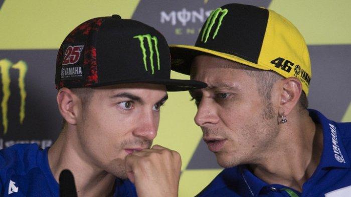 Soal Tes Catalunya, Vinales Beda Pendapat dengan Valentino Rossi