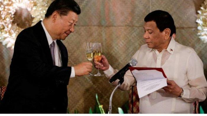 Duterte Mencak-mencak Tuduh China Pepet Kedaulatan Filipina, Awalnya Kawan Sekarang Lawan