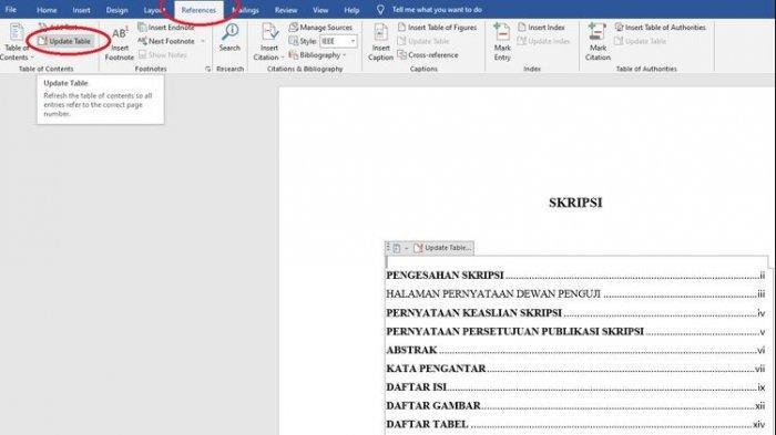 Cara Membuat Daftar Isi Secara Otomatis di Microsoft Word, Tak Perlu Bikin Manual