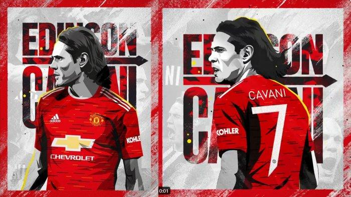 Edinson Cavani akan mengenakan nomor punggung 7 di Manchester United