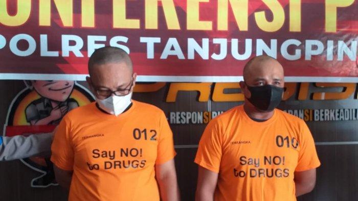 Ekspos kasus narkoba Polres Tanjungpinang, Kamis (3/6/2021).