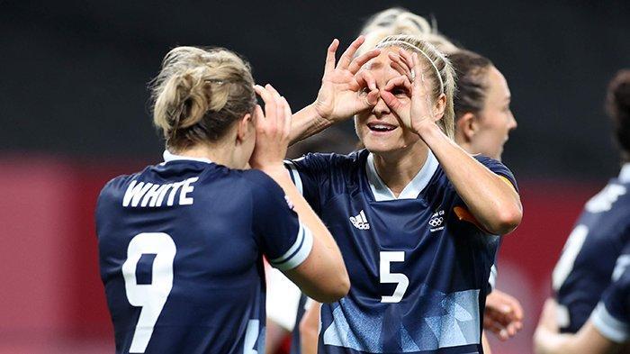 Hasil Sepakbola Wanita Olimpiade Tokyo 2020 - Inggris Menang 2-0, Brazil Pesta 5 Gol, Amerika Kalah