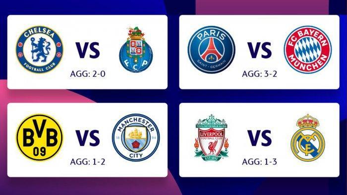 Jadwal Liga Champions Live SCTV PSG vs Bayern, Chelsea vs Porto Kick Off Pukul 02.00 WIB