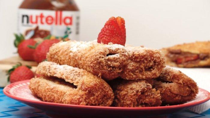 Legitnya Roti Gulung Nutella untuk Camilan Sore, Pakai Roti Tawar Sisa dan Tak Butuh Oven