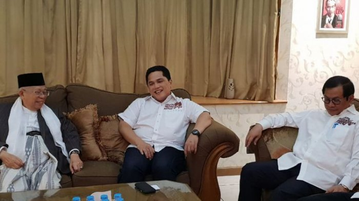 BREAKINGNEWS: Wapres Jusuf Kalla dan Erick Thohir Masuk Timses Jokowi-Ma'aruf. Ini Perannya