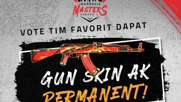 Dukungan Tim Favorit di Free Fire Indonesia Master 2, Dapatkan Skin AK47 Permanen