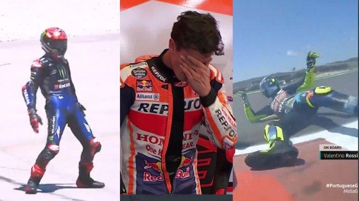 Hasil MotoGP Portugal 2021, Fabio Quartararo Juara Selebrasi Ala Ronaldo, Marquez No 7, Rossi Jatuh