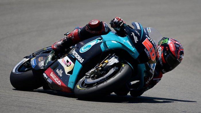 Hasil MotoGP Doha 2021 - Quartararo Juara, Alex Marquez Crash, Valentino Rossi Tercecer