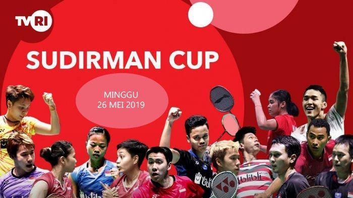 Siaran Langsung Final Piala Sudirman 2019 China vs Jepang Minggu (26/5) di TVRI