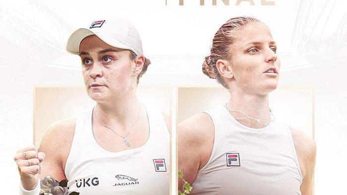 Hasil Semifinal Wimbledon 2021, Ashleigh Barty vs Karolina Pliskova di Final Wimbledon 2021