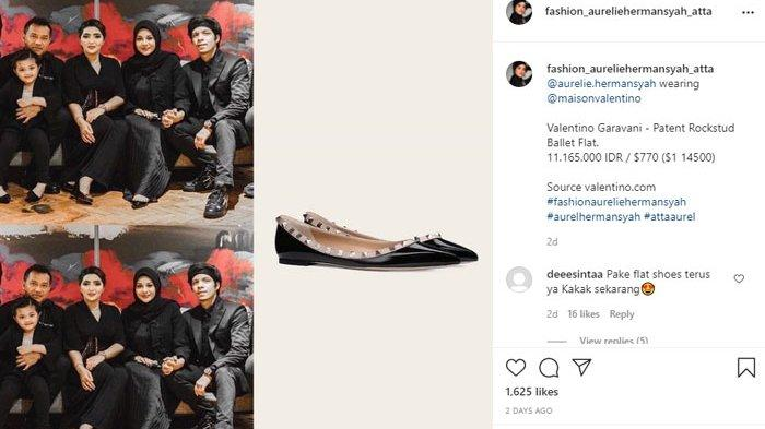 Flat Shoes Aurel Hermansyah