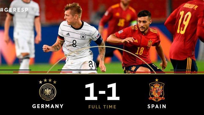Hasil UEFA Nations League Jerman vs Spanyol - Gol Timo Werner Dibalas Gol Jose Gaya, Skor Akhir Seri