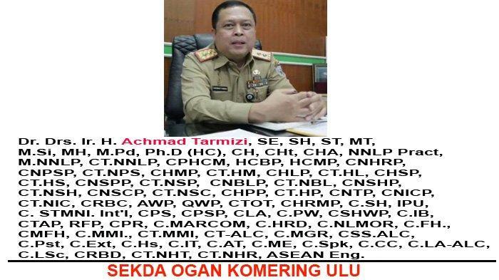 Sekda Oku Pemilik 83 Gelar Akademik & Profesi Pecahkan REKOR MURI